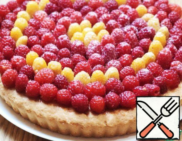 Pie with Cottage Cheese Filling and Berries Recipe