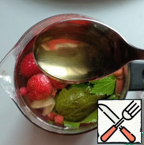 Add honey or sugar and stir.