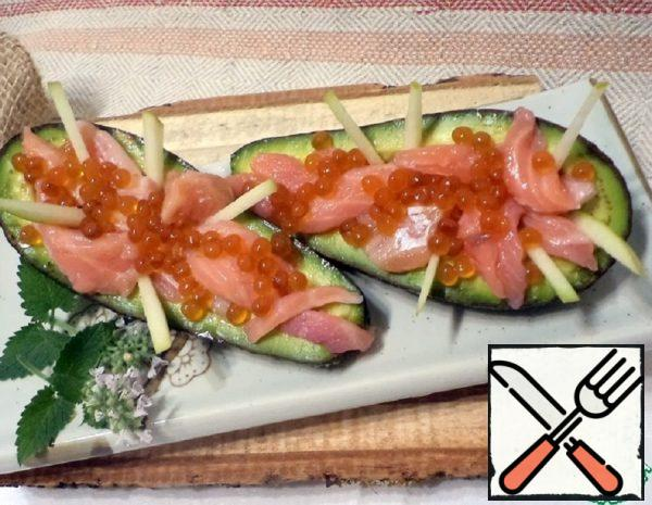 Snack with Avocado and Salmon Recipe