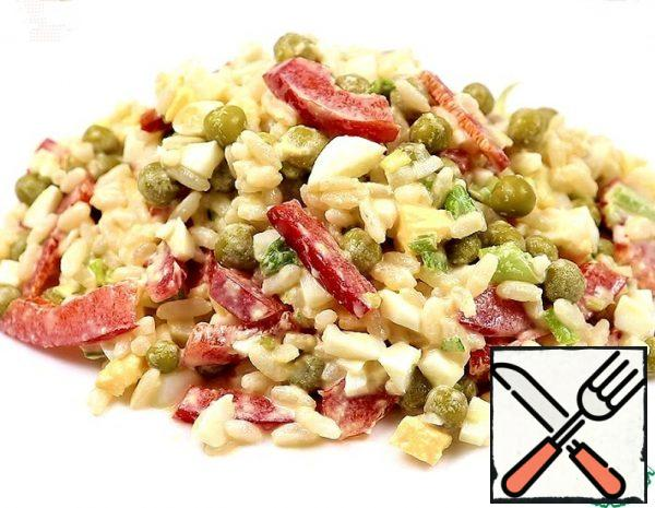Salad with Green Peas and Red Pepper Recipe