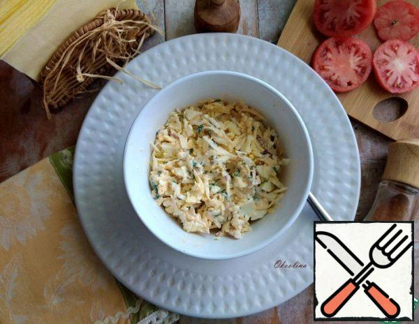 Salad-Snack with Turnips and Cheese Recipe