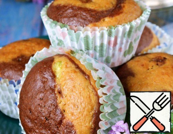 Two-Tone Zucchini Muffins Recipe