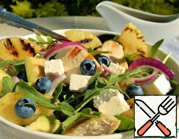 Salad with Chicken, Pineapples and Berries Recipe