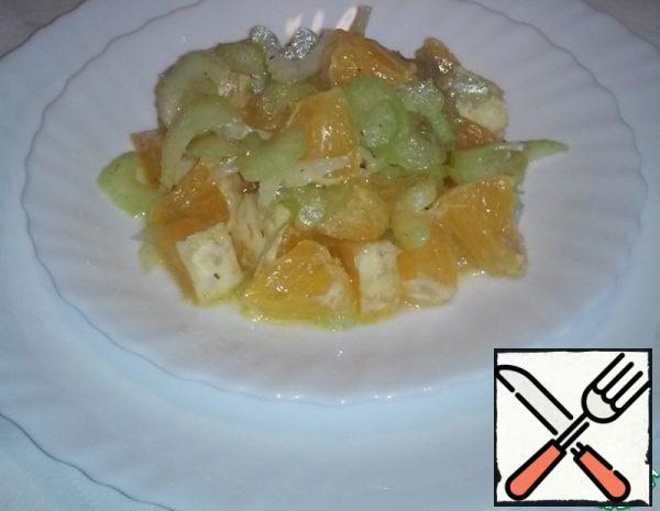 Salad with Oranges and Celery in French Recipe