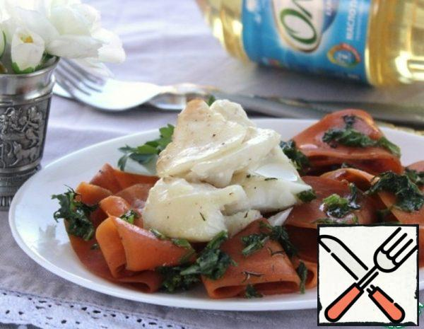 Warm Salad with Cod Fillet Recipe