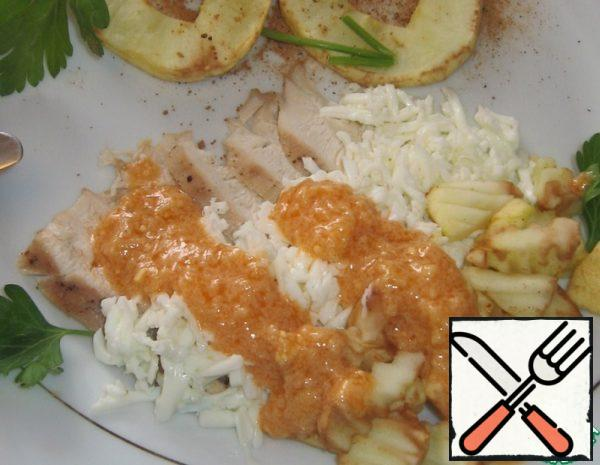 Salad with Chicken and baked Apples Recipe