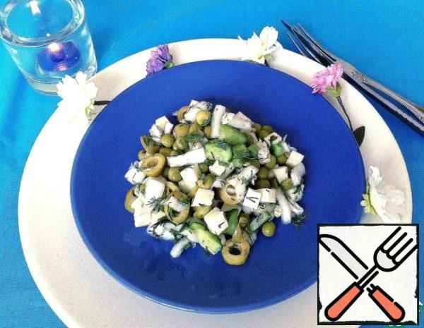 Salad with Vegetables and Suluguni Recipe