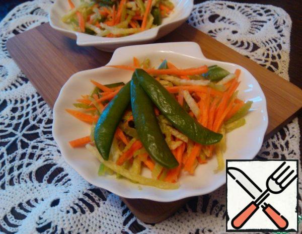 Radish Salad with Pea Spatulas Recipe