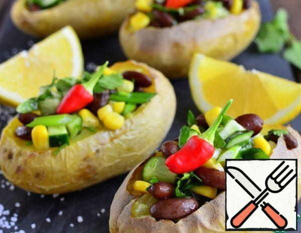 Baked Potato Bean Salad Recipe