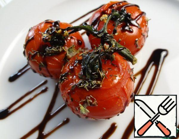 Cherry Tomatoes on a branch in the Oven Recipe
