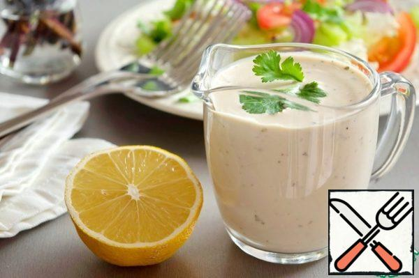 You can pour it into a jar and store it in the refrigerator for 2-3 days. You can use this salad dressing for any vegetable salads.