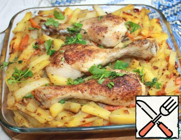 Potatoes with Chicken Legs Recipe