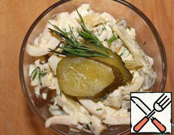 Salad with Squid and pickled Cucumbers Recipe