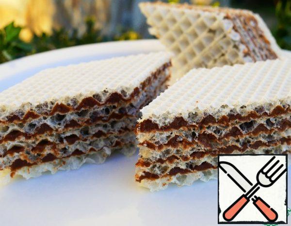 Waffle Cake with Chocolate Cream Recipe