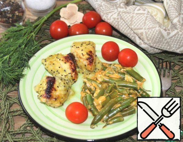 Chicken with Cream Sauce with Kiwi Recipe