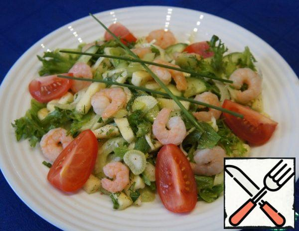 Green Salad with Prawns Recipe