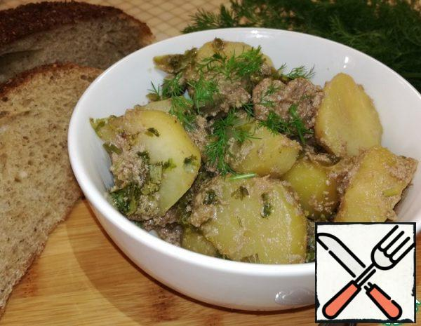 Stewed Potatoes with Chicken Liver Recipe