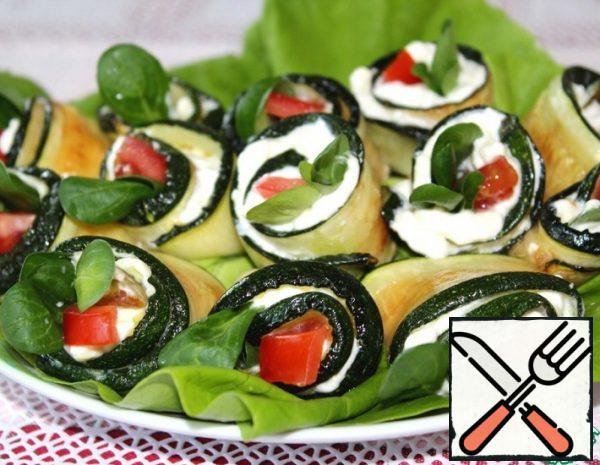Rolls of Zucchini Recipe