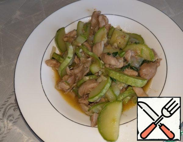 Fried Zucchini with Chicken Breast Recipe