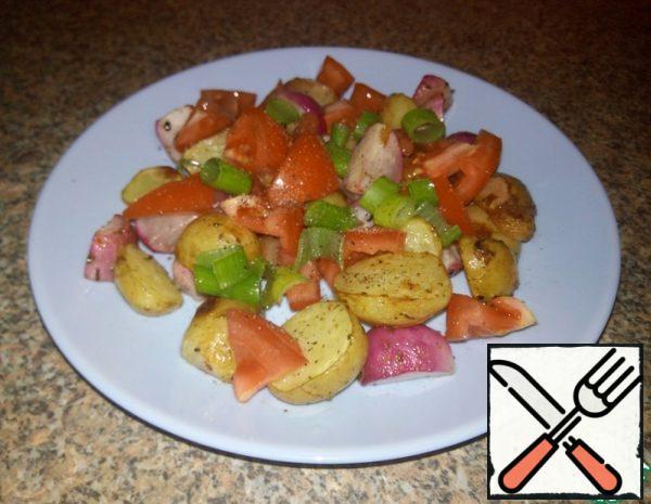 Salad of roasted Radishes Recipe