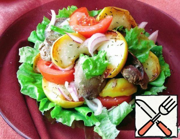 Salad with Chicken Liver Recipe