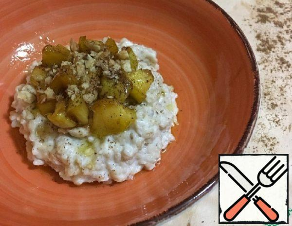 Oatmeal Porridge with Caramelized Apples Recipe