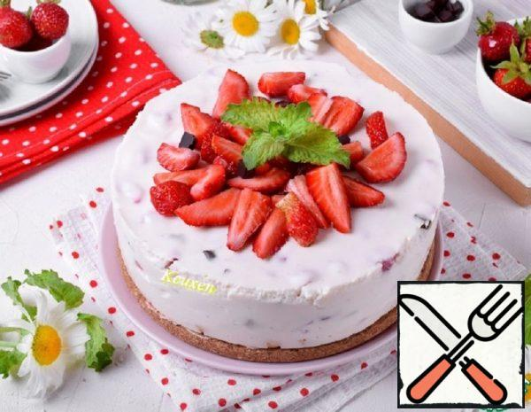 """Cheesecake without Baking with the Taste of """"Strachatella"""" Recipe"""