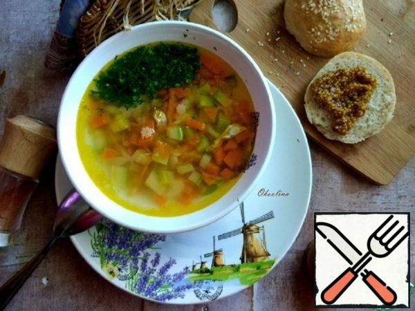 Chicken Soup with Young Vegetables Recipe