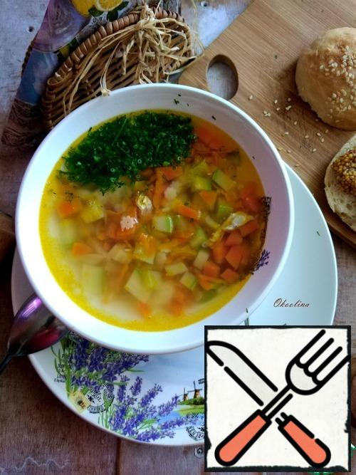 Eat this beautiful, delicious and light soup.