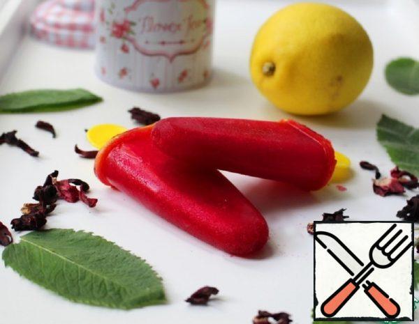 "Fruit Ice from Hibiscus ""Bright Freshness"" Recipe"