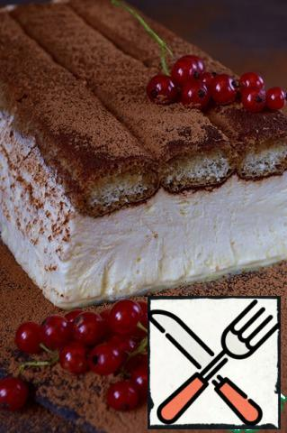 Send the dessert to the freezer min for 2 hours. Sprinkle with cocoa before serving. Bon Appetit!