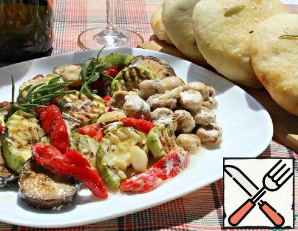 Vegetable and Mushroom Antipasti Recipe