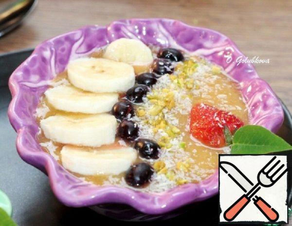 Peach and Banana Smoothie Bowl Recipe