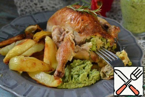 Stuffed with Chicken Pesto and Peas Recipe