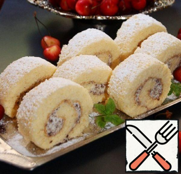 Roll Cake with Three Ingredients Recipe