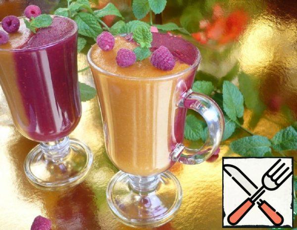 Dessert Raspberry-Apricot on Agar-Agar Recipe