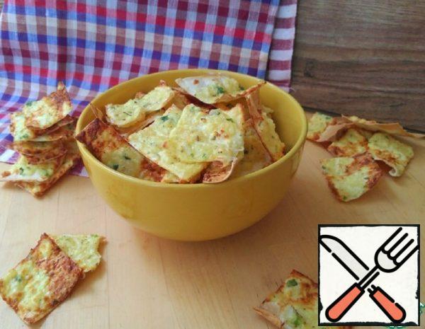 Cheese Chips made of Thin Yeast-Free Pita Bread Recipe