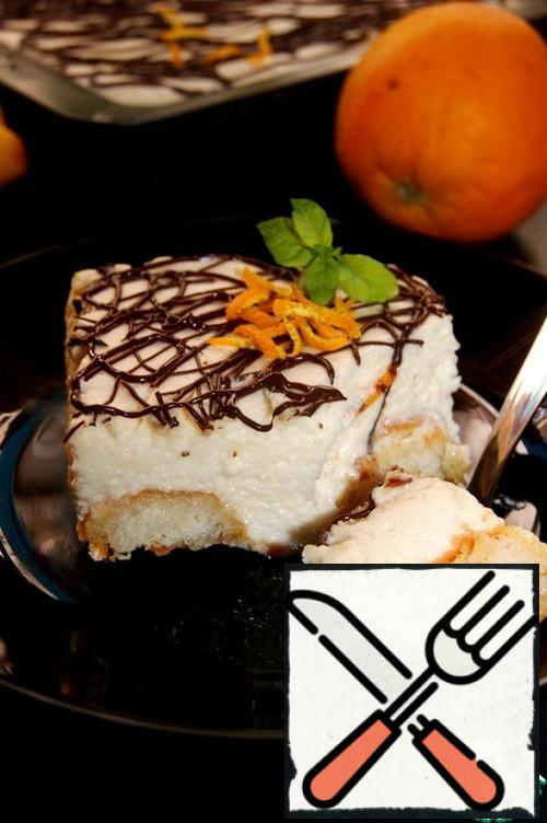 This dessert can be eaten literally with your lips, it is so airy and tender! Highly recommended!