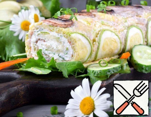 Zucchini and Mushroom Snack Roll Recipe