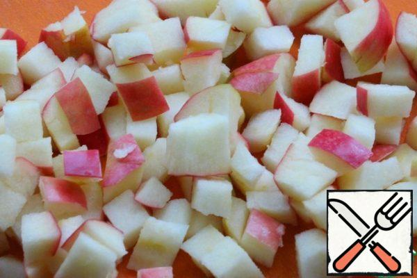 Cut the Apple into a small cube (remove the seed pod, do not peel)