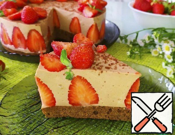 Cottage Cheese Mousse Cake with Strawberries Recipe