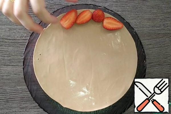Remove the finished cake from the mold and decorate as desired.