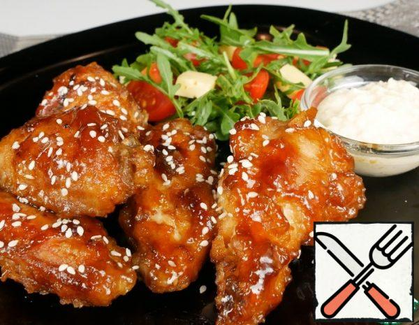 Chicken Wings with Cheese Sauce Recipe