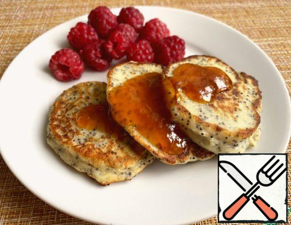 Cottage Cheese Pancakes with Poppy Seeds Recipe