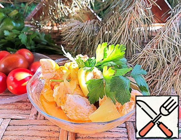 Chicken Fillet with Vegetable Gravy Recipe