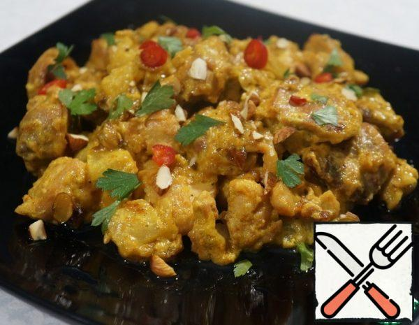 Chicken with Pineapple in Curry Sauce Recipe