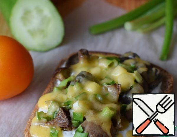 Hot Sandwiches with salted Mushrooms Recipe