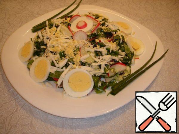 Spring Radish Salad with Spinach Recipe