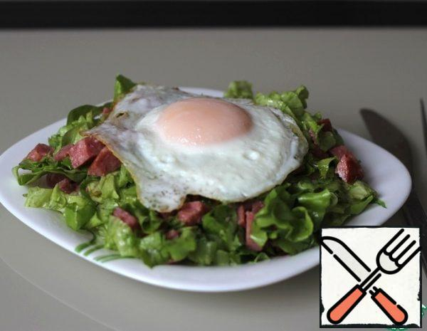 Salad with Servelat and Egg Recipe
