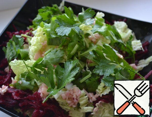 Salad with Chinese Cabbage and Beetroot Recipe